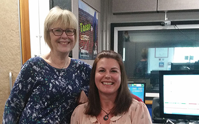 Interview on 'the sofa' with Lesley Dolphin at BBC Suffolk Radio – 14th April 2016