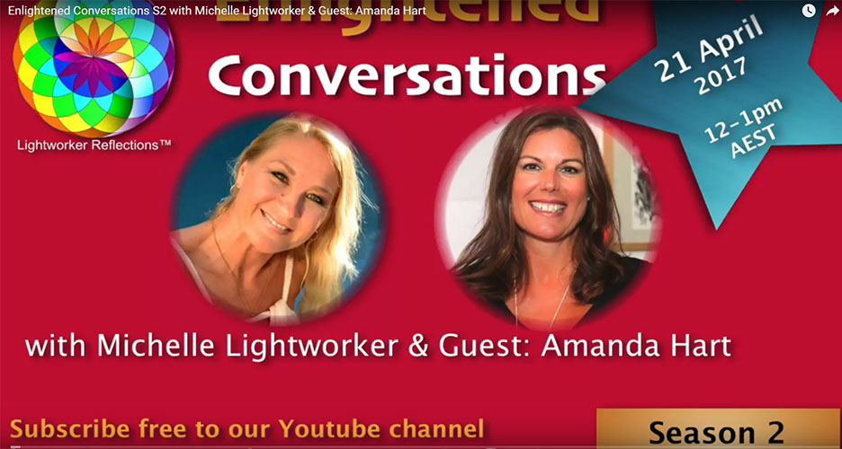 Interview with Michelle Lightworker, Hay House World Summit Speaker at Enlightened Conversations.