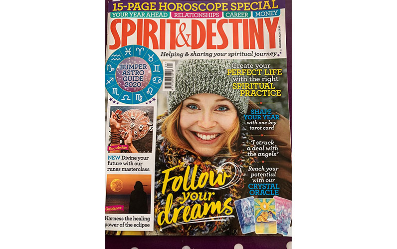 Appearance in Spirit & Destiny Magazine – January 2020